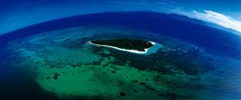 Aerial Green Island Great Barrier Reef Australia