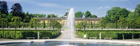 Fountain in a garden Potsdam Germany