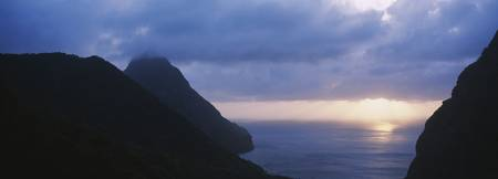 Sunset The Pitons St Lucia Windward Islands