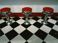 Barstools in a Diner