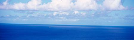 Ocean w/sailboat N side Tortola British Virgin Is
