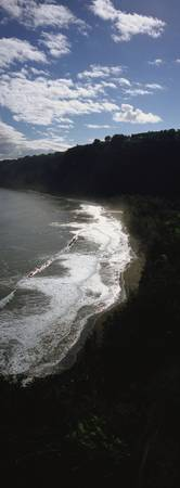 High angle view of a coastline
