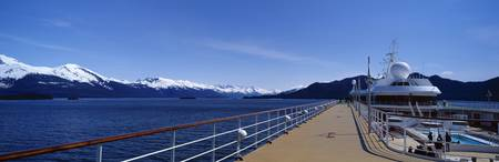 Deck of a cruise ship Alaska