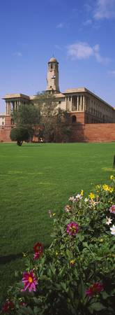 Lawn in front of a government building