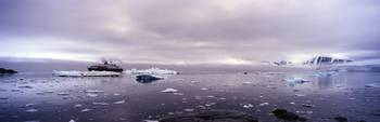 Cruise ship in the sea Antarctica