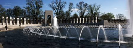 Fountains at a war memorial National World War II