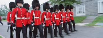 Guards marching with rifles