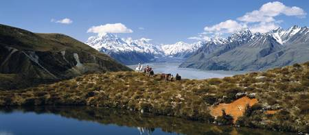 Horse Trekking Mt Cook New Zealand