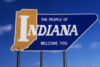 The People of Indiana Welcome You State Sign