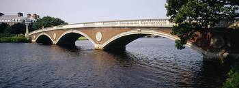 Larz Andersen Bridge Charles River Boston MA