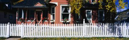 House with White Picket Fence Silverton CO