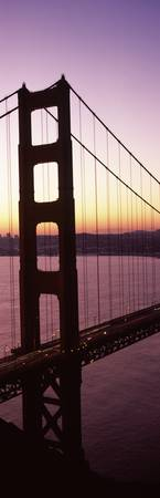 Suspension bridge at sunrise