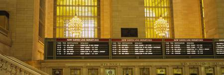 Arrival departure board in a station
