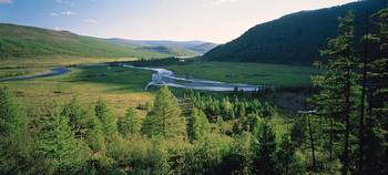 Sayan Mountains and Tustuk River Siberia Russia
