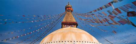Stupa and Prayer Flags Kathmandu Nepal
