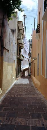 Buildings along the alley