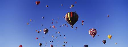 Hot air balloons at the international balloon fes