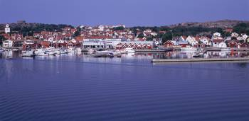 Swedish Westcoast village w/ marina in the center