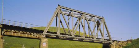 Low angle view of a railway bridge