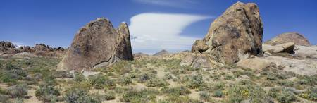 Cloud Over Alabama Hills CA