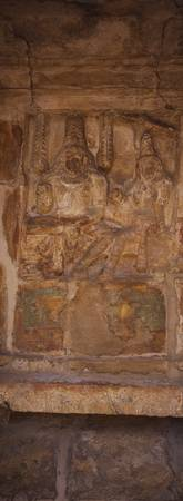Sculpture carved on the wall of a temple