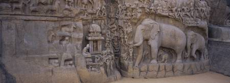 Sculpture carved in a temple