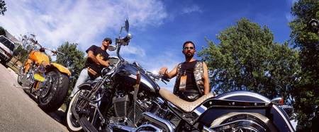 Motorcycle Riders and Harley Davidsons Milwaukee