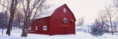 Winter Barn Ada MI