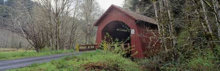 Covered Bridge over Yachats River Lincoln County
