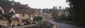 Castle Combe village W Midlands England