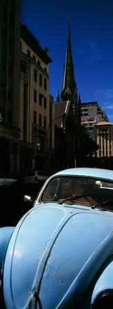 Volkswagen Beetle car on the road Cape Town Weste