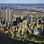 """Manhattan from air with World Trade Center towers"" by Panoramic_Images"