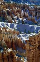 Snow Over Sandstone Formations