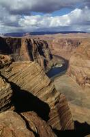 View Of Colorado River From Horseshoe Bend Overlo