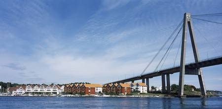 Bridge with a city in the background Stavanger Ro