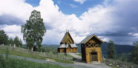 Wooden church on a hill Reinli Stave Church Reinl