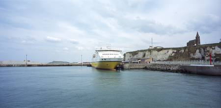 Ferry at a port Dieppe Seine Maritime Normandy Fr