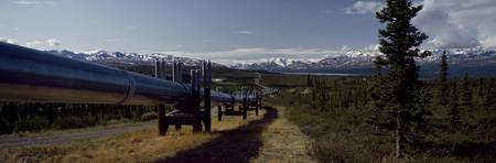 Pipeline passing through a landscape