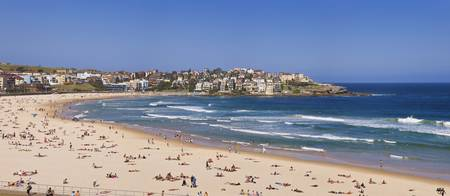 Tourists on the beach Bondi Beach Sydney New Sout