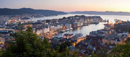 Buildings in a city Bergen Hordaland County Norwa