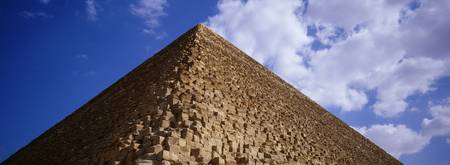 Low angle view of a pyramid