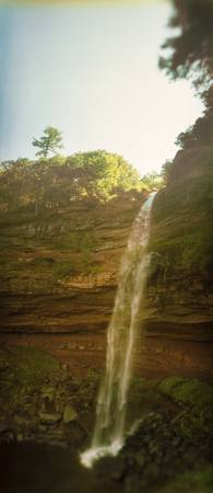 Waterfall Kaaterskill Falls Catskill Mountains Hu