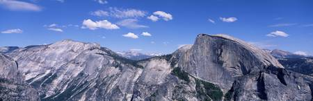 View fr North Dome Half Dome Clouds Rest Yosemite