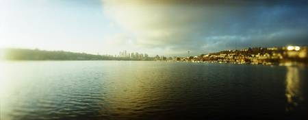 City at the waterfront with Gasworks Park in the