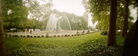 Fountain in a park Prospect Park Brooklyn New Yor