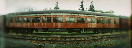 Old train on display in a museum Northwest Railwa