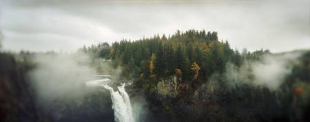 High angle view of a waterfall Snoqualmie Falls S