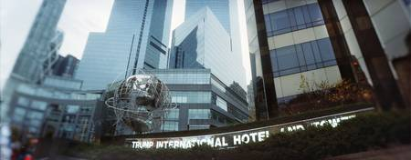 Low angle view of a hotel Trump International Hot