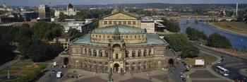 High angle view of an opera house