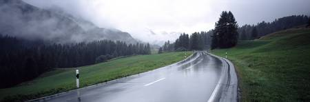Wet Road Austria